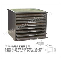 Drawer type stone material  display rack stand exhibition frame for ceramic tiles
