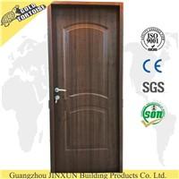 China supplier American steel door, interior PVC steel door design with wood edge