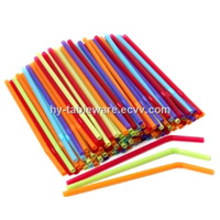 colorful plastic disposable flexible drinking straws
