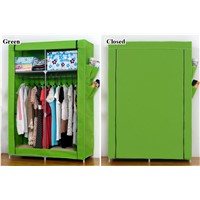 19mm thicken tube with side pocket non-woven fabric wardrobe with cover T090