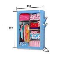 Big size multi layer with high foot non-woven fabric wardrobe with cover 10180