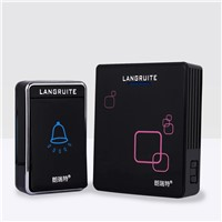 Wireless Doorbell Black ABS Adjustable Tune Independent Coding