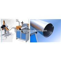 Spiral air duct making machine