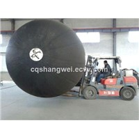 Sling type floating pneumatic rubber