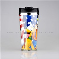 Double Wall Stainless Steel Paper Photo insert Coffee Mug Travel Mug