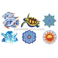 Glass mosaic pattern-1 for swimming pool