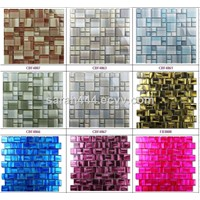 Hand painting glass mosaic/ goldleaf glass mosaic