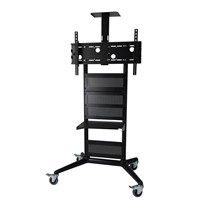 TV trolley cart for display up to 75 inch