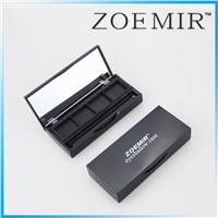 Wholesale recycled naked 4 hole matte black eyeshadow compact palettes case