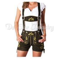 Women Leather Lederhosen Bavarian Costumes