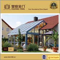 Free design double tempered glass sun room