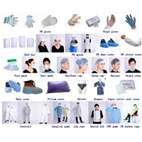 Hospital patient non woven disposable isolation gown