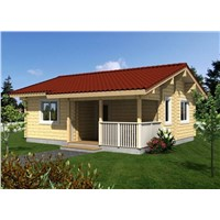Natural Design Wooden Villa House India Price