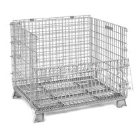 Zinc Plated Stainless Steel Wire Mesh Storage Container