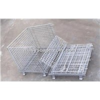 Industrial Stainless Steel Collapsible Bulk Box Storage Crate