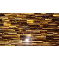 New Arrived Natural Stone Slab ,Yellow Tiger's Eye Wall Slab