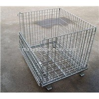 Foldable Galvanized Welded Wire Mesh Storage Cage