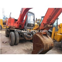 Wheel moving type used Hitachi EX100wd excavator /second hand Hitachi EX100 wheel excavator