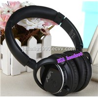 Q1 bluetooth headband headphone black headphone with FM radio and tf card slot