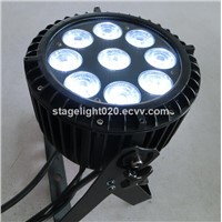 9pcs RGBAW LED 5 in 1 IP65 waterproof outdoor dmx512 LED light
