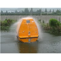 Marine ocean enclosed boat lifeboat with engine for ships