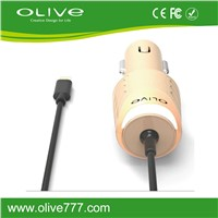 New 2.4A  Lighting cable Car charger For  iPhone Device