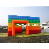 Inflatable Rainbow Cube Tent for Sale