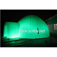Outdoor inflatable igloo dome tent with LED lighting