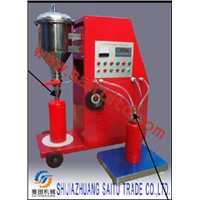 ABC/BC filling system for fire extinguisher maintenance service workshop