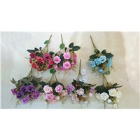 mini craft silk flowers