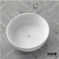 Corian Solid Surface Freestanding Round Bathtub