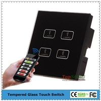 UK Standard 4 Gang Wifi APP Remote Control Light Touch Switch