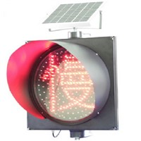 300mm Street Traffic Road Safety Solar Led Warning Lights Solar Amber-slow Warning Light