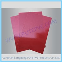 PT-PA-018 Red Color Single Piece Adhesive PVC sheet for Album