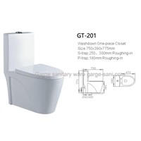 sanitary ware toilets one piece toilet ceramic WC