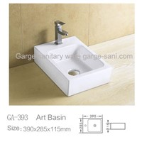 square art basin wash basins model design