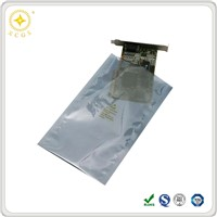 Open top electromagnetic waves shielding material plastic packaging bag