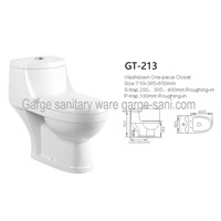 SASO toilets washdown one piece toilet 4inch water outlet