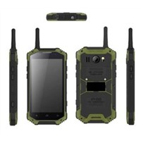 Professional industrial walkie talkie smartphone IP68 Rugged waterproof phone with 2GB+16GB 5MP+13MP