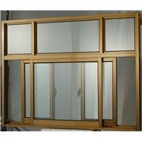 6063-T5 Aluminum profile sliding window with powder coated finish