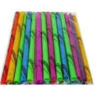 Individually wrapped ASSORTED NEON MILKSHAKE STRAWS! EXTRA WIDE!