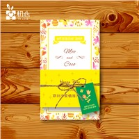 High quality greeting wedding card design and printing