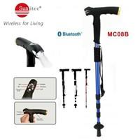 MC08B Multifunctional Sunitec Walking Stick with MP3 LED flashlight FM Radio Compass SOS & Bluetooth