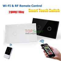US/AU Standard Wi-Fi or RF Remote Control Light Touch Switch With LED Backlight Indicator