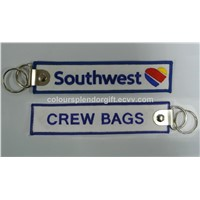 Wholesale Southwest Airlines Crew Bags Tag Embroidered Keychain Manufacturer