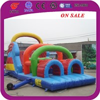 Large inflatable obstacle course bouncers for sale