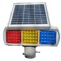 China supplier roadway safety solar powered warning signal light solar flash warning light