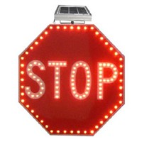 led Flash Warning solar light solar traffic stop sign