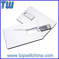 Full Metal Credit Card USB Flash Drive USB Flash Memory Free Logo Printing