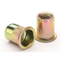 rivet nut flat head knurled